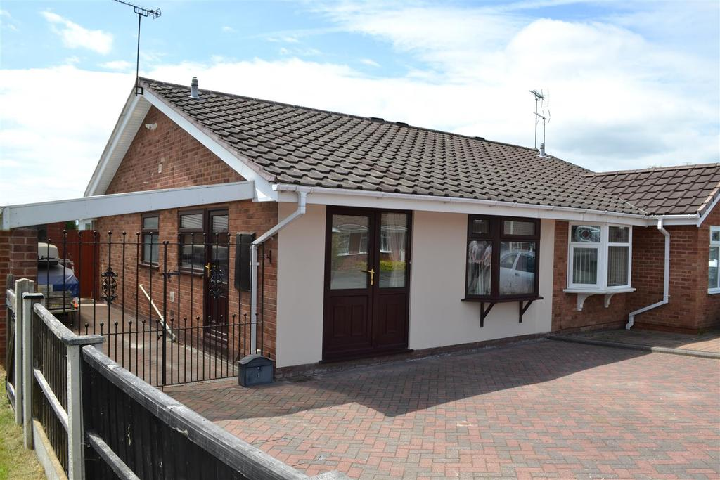 2 Bedrooms Semi Detached Bungalow for sale in Meadow Lark Close, Hednesford, Cannock