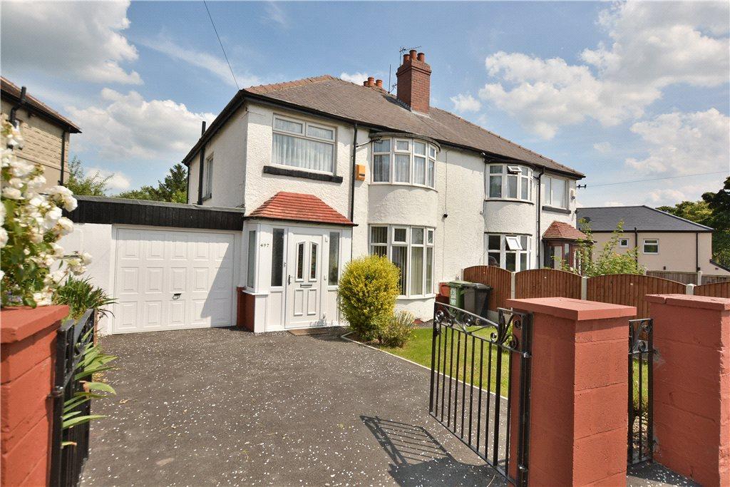 3 Bedrooms Semi Detached House for sale in Oakwood Lane, Oakwood, Leeds
