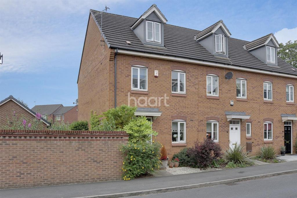 3 Bedrooms End Of Terrace House for sale in Burberry Avenue, Hucknall