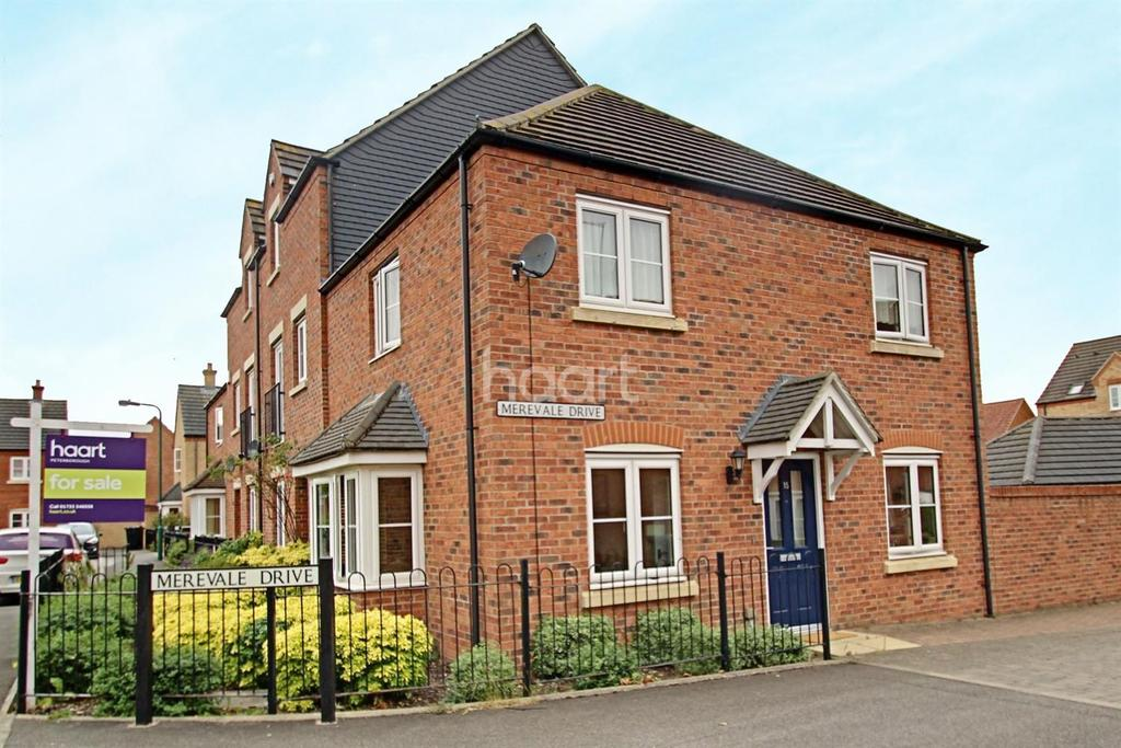 3 Bedrooms Semi Detached House for sale in Merevale Drive, Eye, Peterborough