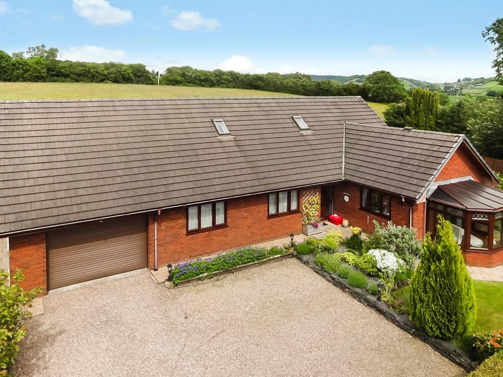 5 Bedrooms Detached Bungalow for sale in Y Maes, St. Harmon Road, Rhayader, Powys