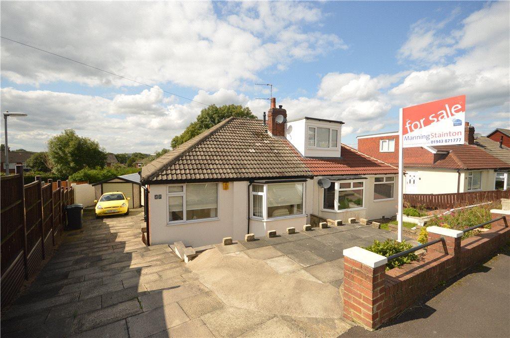 2 Bedrooms Semi Detached Bungalow for sale in Banksfield Avenue, Yeadon, Leeds, West Yorkshire