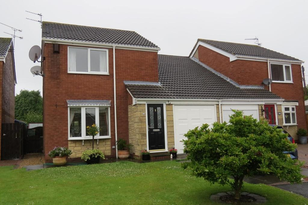 3 Bedrooms Semi Detached House for sale in Heron Close, Nursery Park, Ashington