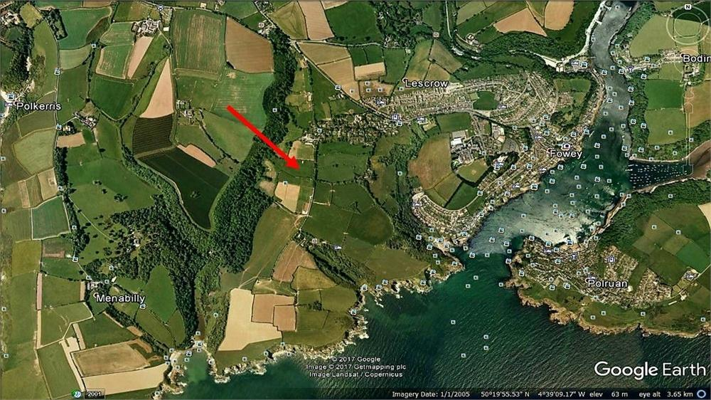4 Bedrooms Land Commercial for sale in Lankelly Lane, FOWEY, Cornwall