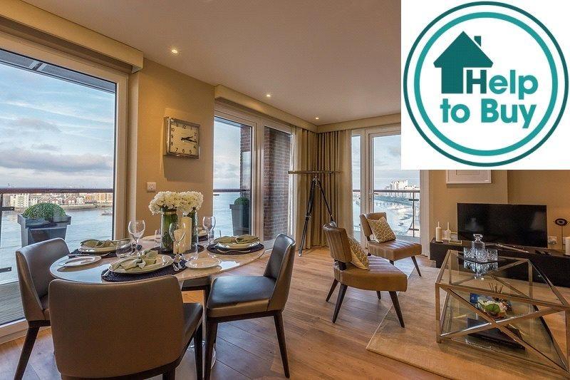 2 Bedrooms Flat for sale in Waterfront II, Royal Arsenal Riversid, Woolwich, London, SE18