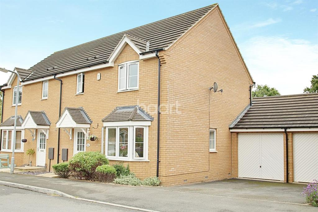 3 Bedrooms Semi Detached House for sale in Dave Bowen Close, St Crispins, Northampton