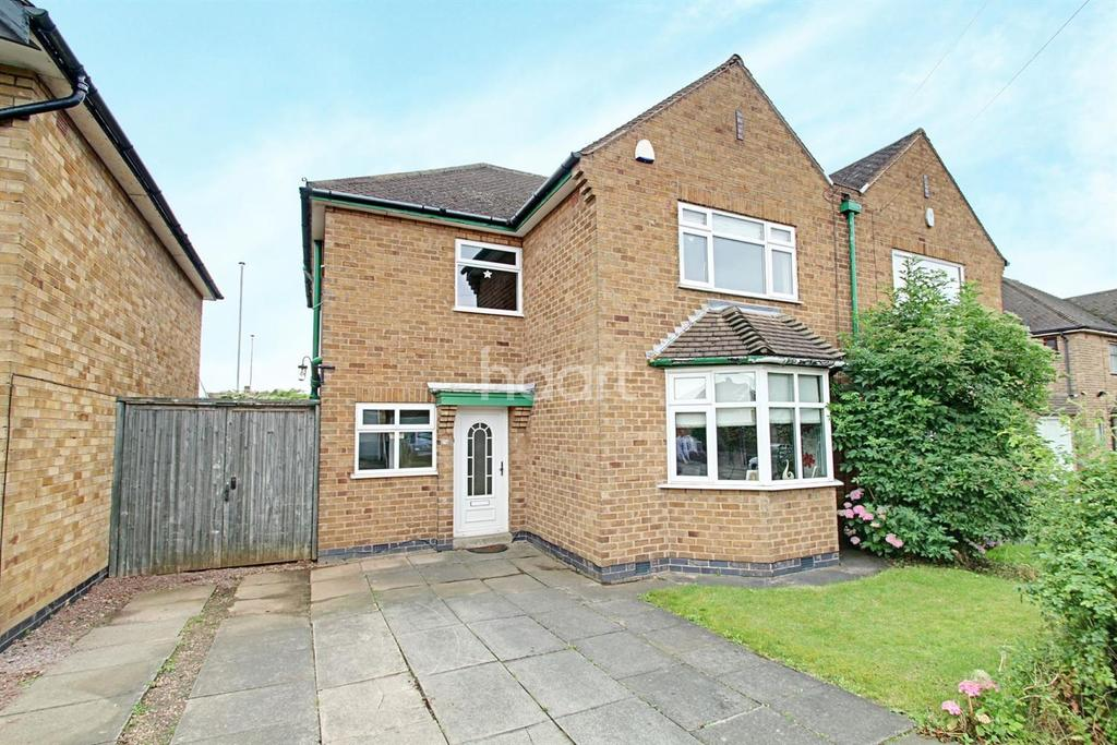 3 Bedrooms Semi Detached House for sale in Saltersgate Drive, Birstall, Leicester