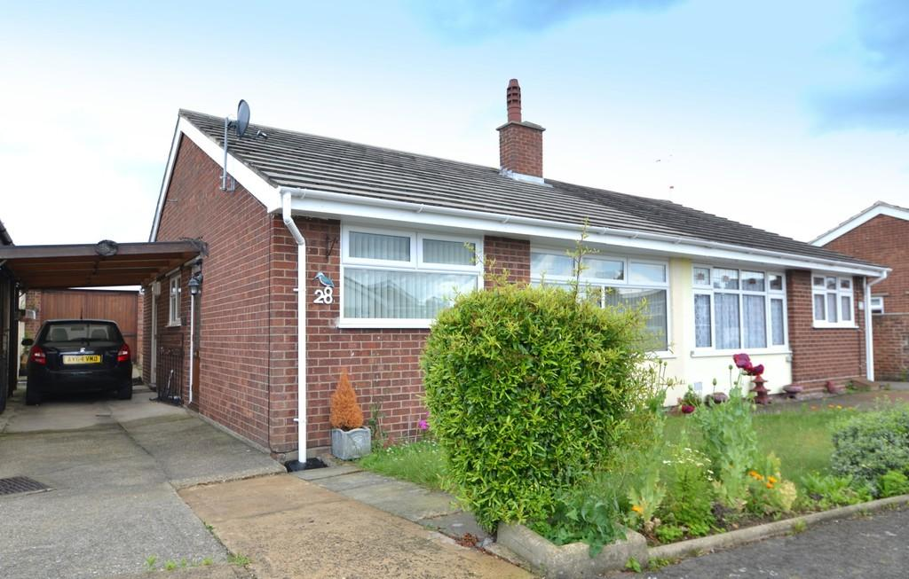 2 Bedrooms Semi Detached Bungalow for sale in Leggatt Drive, Bramford, Ipswich, Suffolk, IP8 4EU