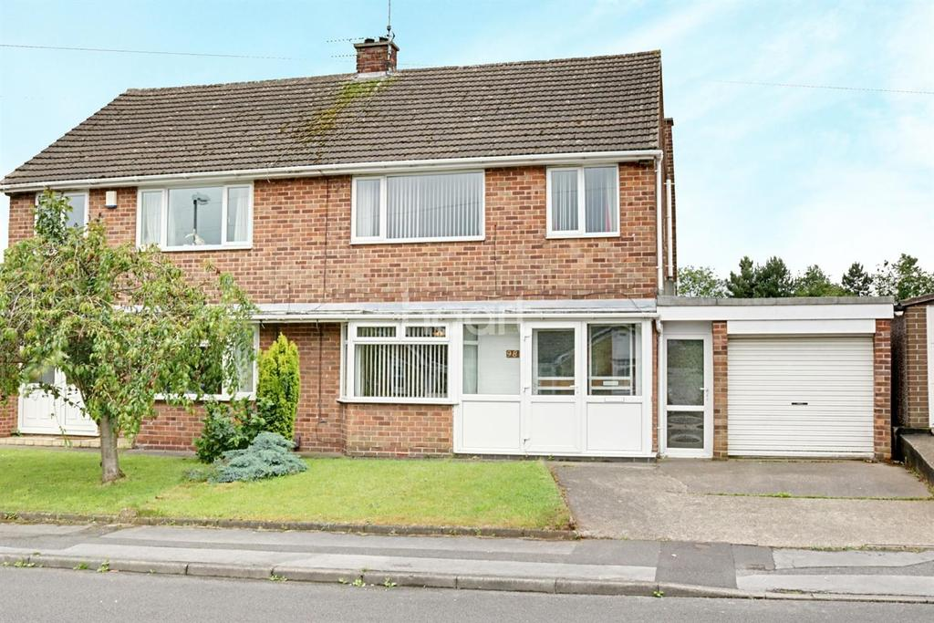 3 Bedrooms Semi Detached House for sale in Shortwood Avenue, Hucknall