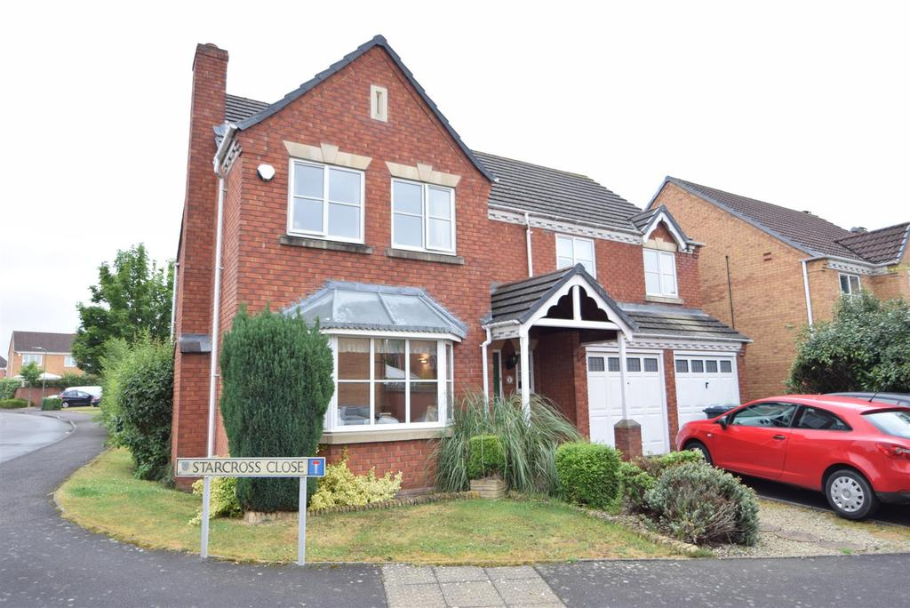 4 Bedrooms Detached House for sale in 1 Starcross Close, Bicton Heath, Shrewsbury SY3 5PU