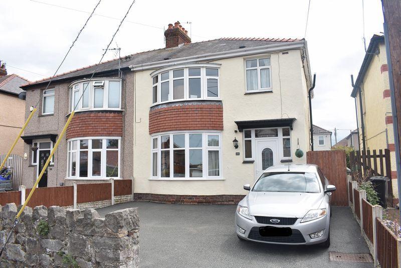 3 Bedrooms Semi Detached House for sale in Trellewelyn Road, Rhyl