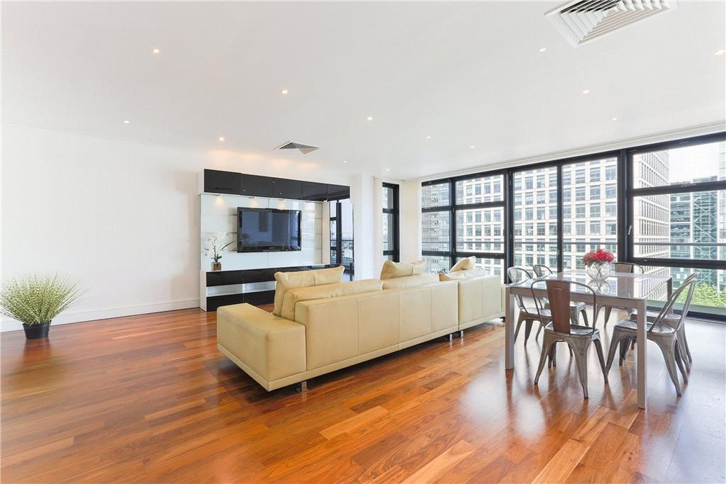 3 Bedrooms Flat for sale in Discovery Dock Apartments West, 2 South Quay Square, Nr Canary Wharf, London, E14