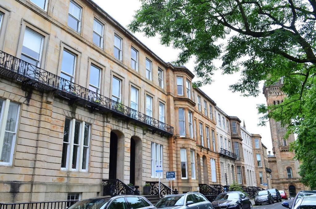 2 Bedrooms Flat for sale in Woodlands Terrace, Flat 2/1, Woodlands, Glasgow, G3 6DD