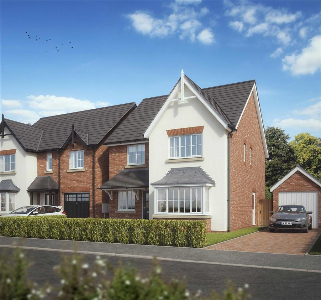 4 Bedrooms Detached House for sale in Plot 11, The Abbeydale, Kings Vale, Baschurch, SY4 2DP