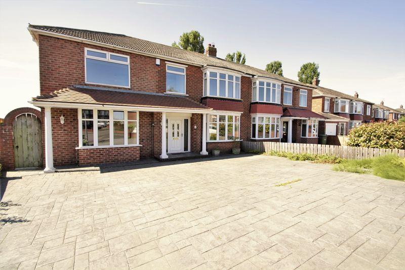 5 Bedrooms Semi Detached House for sale in Bedale Grove, Fairfield, Stockton, TS19 7QY