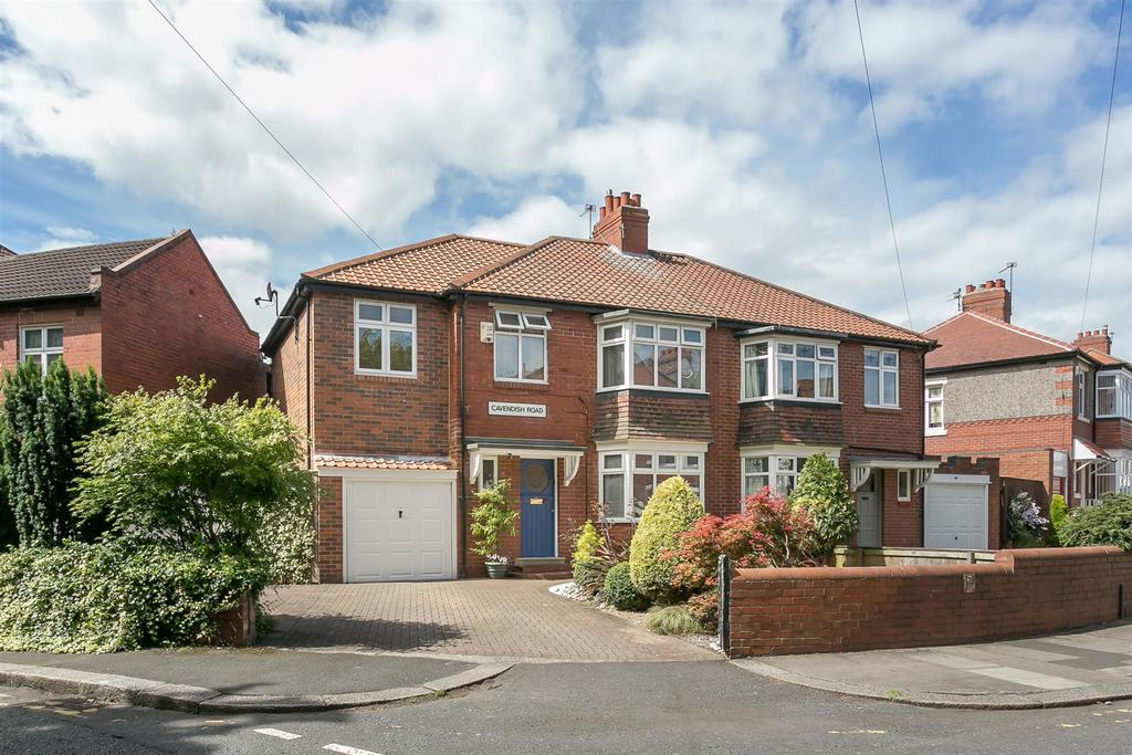 4 Bedrooms Semi Detached House for sale in Cavendish Road, Jesmond, Newcastle upon Tyne