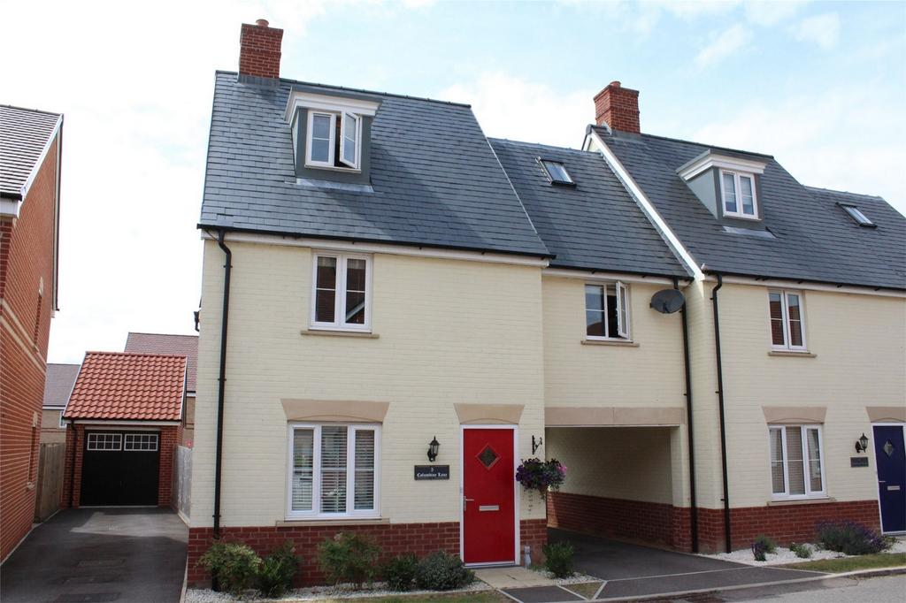 4 Bedrooms Semi Detached House for sale in Columbine Lane, Stotfold, Hitchin, Hertfordshire