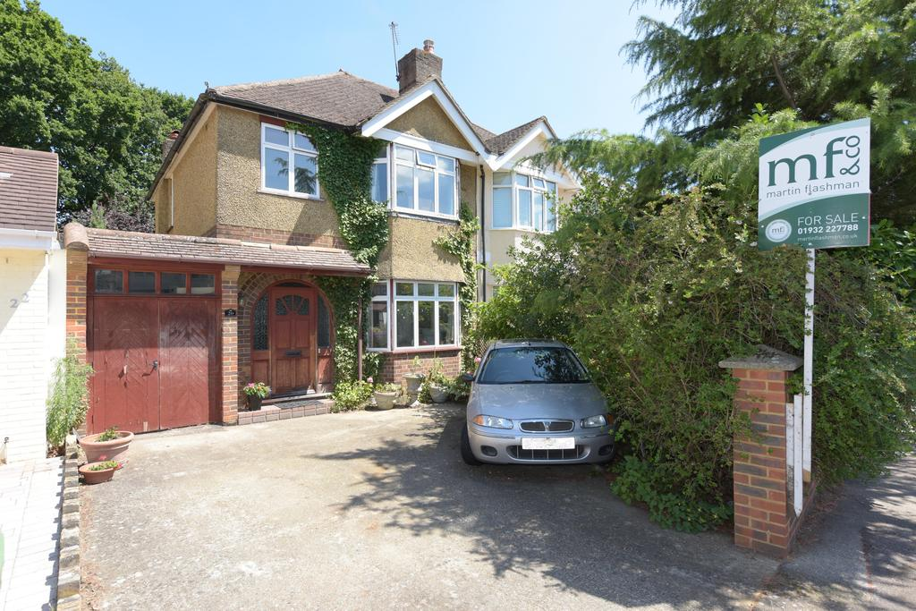 3 Bedrooms Semi Detached House for sale in King George Avenue, WALTON ON THAMES KT12