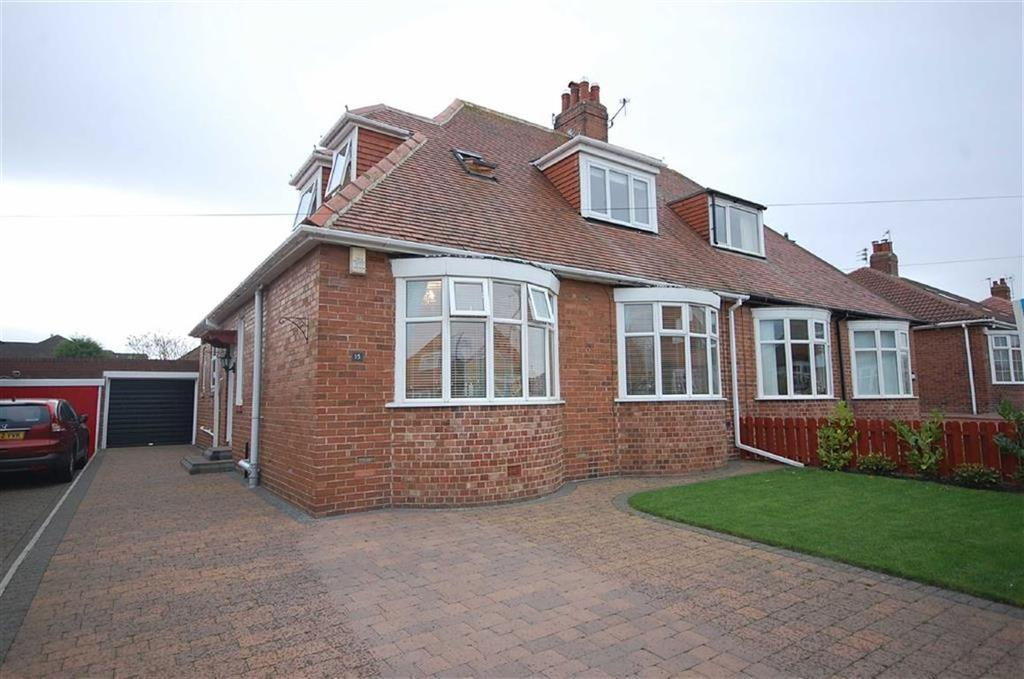 3 Bedrooms Semi Detached Bungalow for sale in Hemsley Road, South Shields