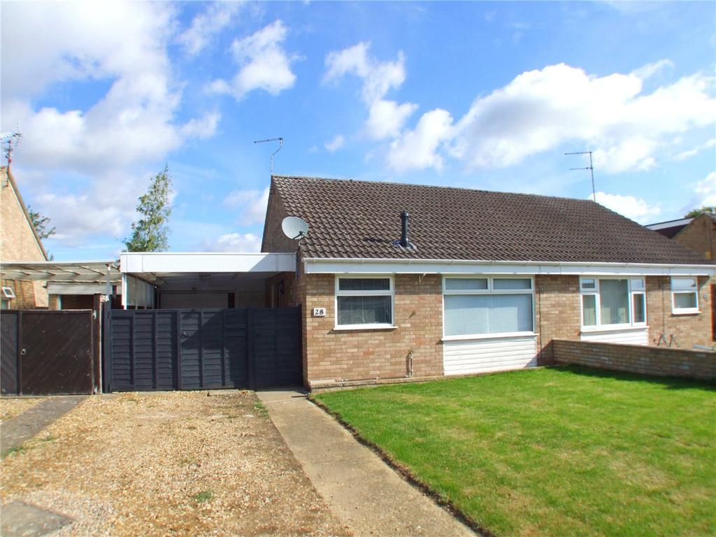 2 Bedrooms Semi Detached Bungalow for sale in Crowson Crescent, Northborough, Peterborough, Cambridgeshire, PE6