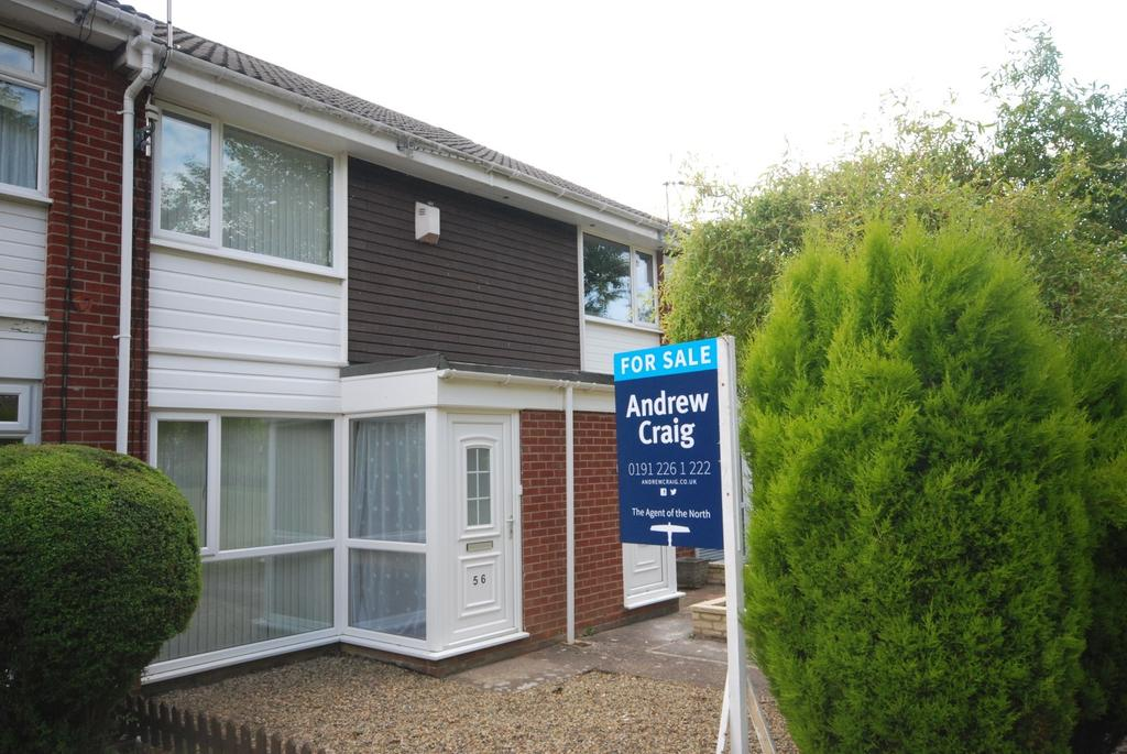 2 Bedrooms Terraced House for sale in Chichester Close, Kingston Park