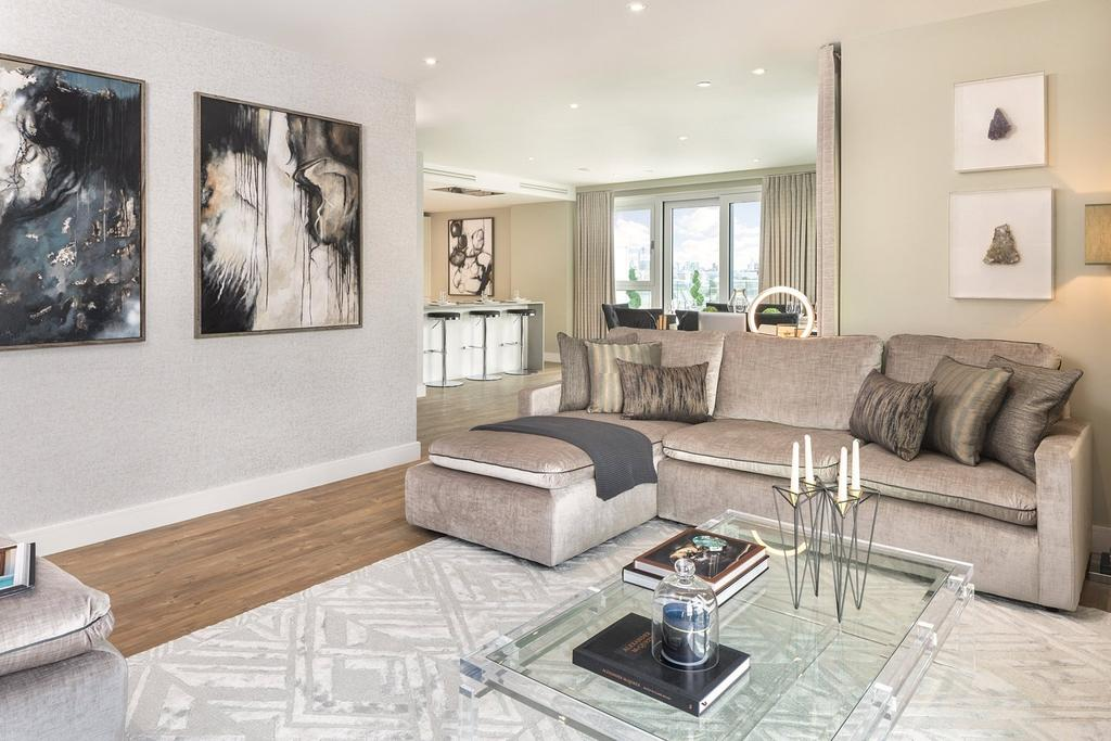3 Bedrooms Apartment Flat for sale in Rooftop Apartments, Nine Elms Point, SW8