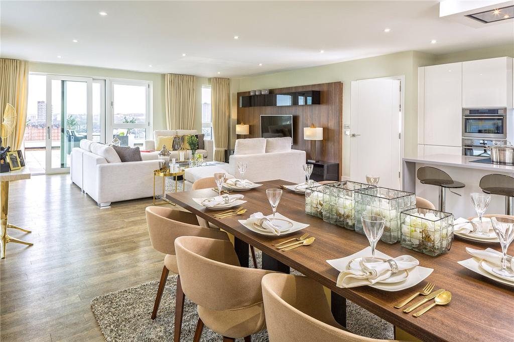 3 Bedrooms Apartment Flat for sale in Watts Penthouse, Nine Elms Point, SW8
