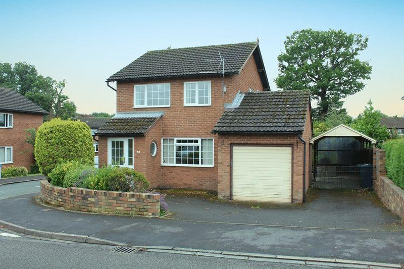 3 Bedrooms Detached House for sale in Gains Avenue, Bicton Heath, Shrewsbury, SY3 5AN