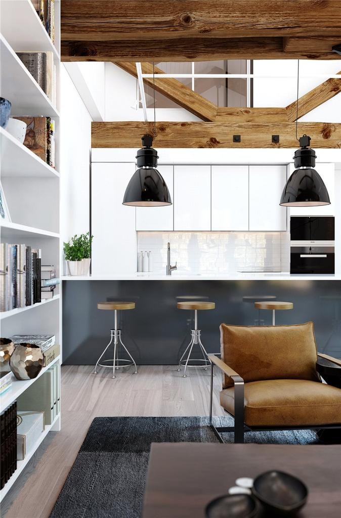 1 Bedroom Unique Property for sale in Coopers' Lofts, Ram Street, Wandsworth, London, SW18
