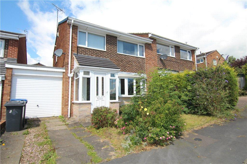 3 Bedrooms Semi Detached House for sale in Broom Hall Drive, Ushaw Moor, Durham, DH7