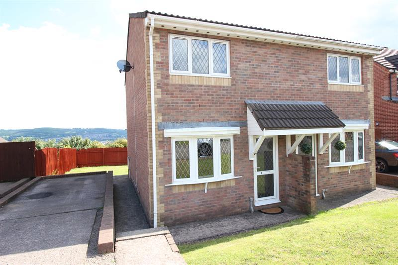 2 Bedrooms Semi Detached House for sale in Heol Cwarrel Clark, Caerphilly