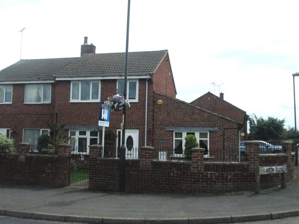 2 Bedrooms Semi Detached House for sale in Elmton Close, Creswell, Worksop, Nottinghamshire, S80