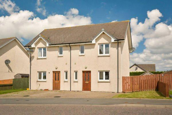 3 Bedrooms Semi Detached House for sale in 7 Den View, Maud, Peterhead, Aberdeenshire, AB42