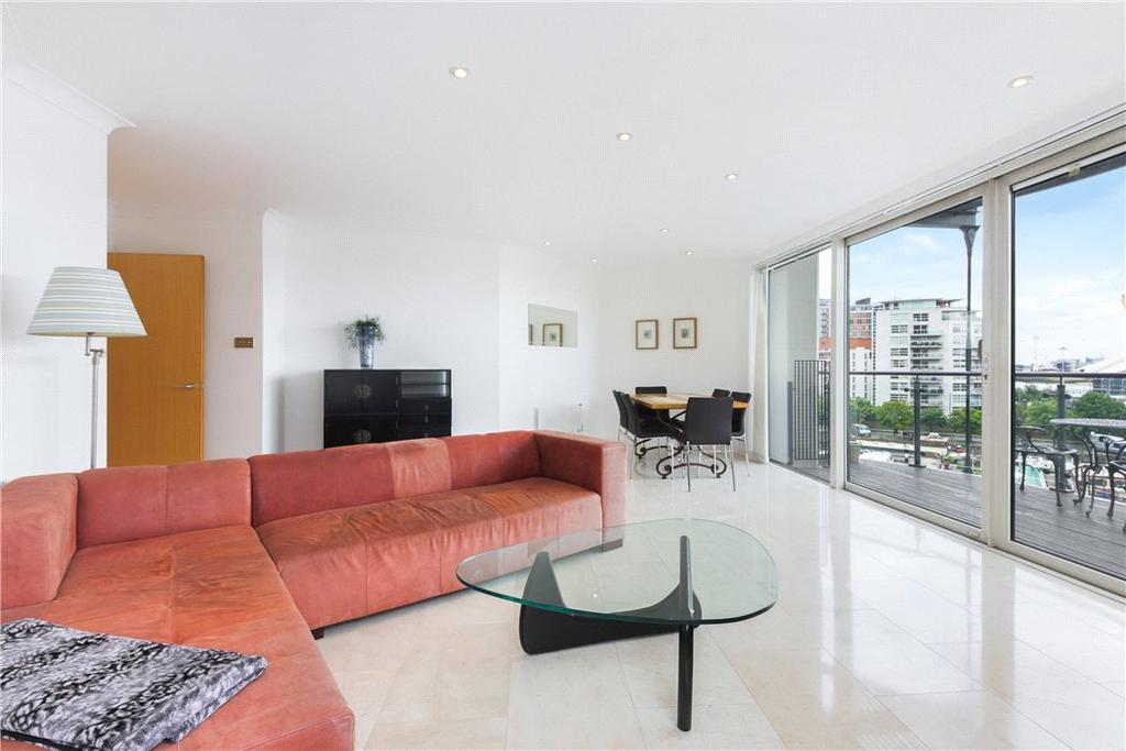 3 Bedrooms Flat for sale in Boardwalk Place, Nr Canary Wharf, London, E14