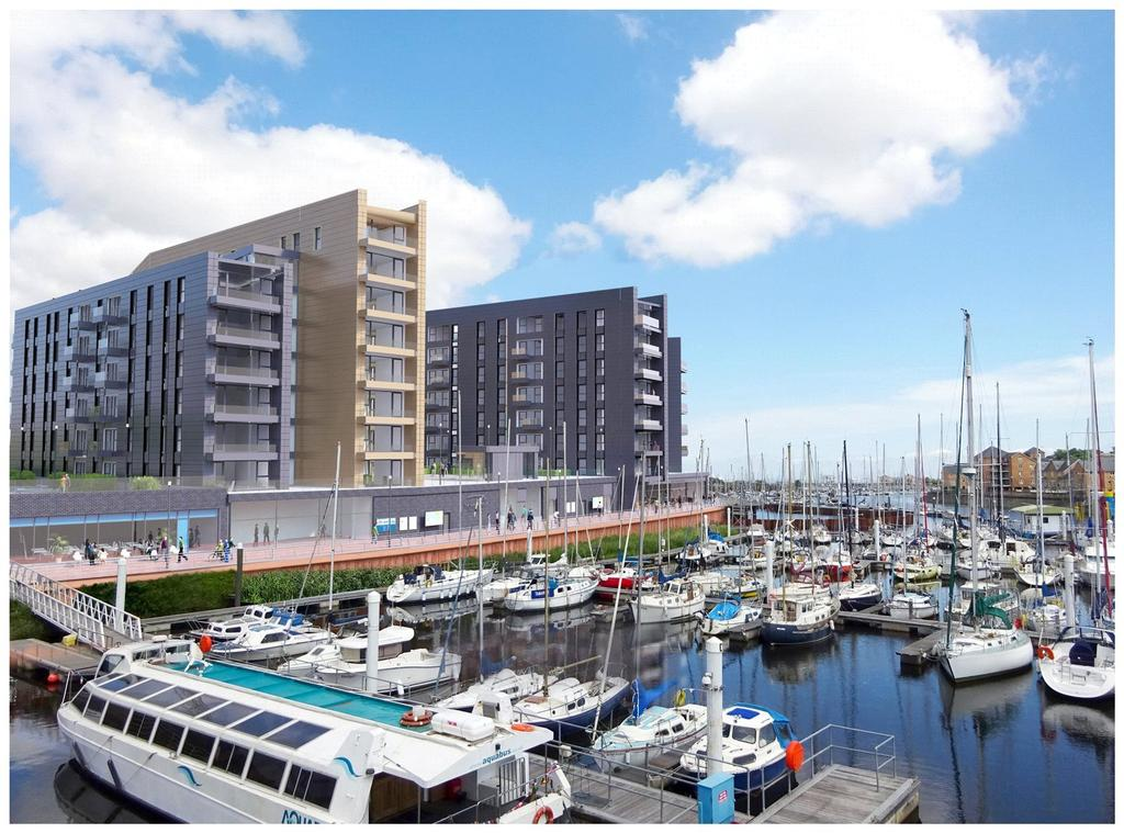 1 Bedroom Flat for sale in 1 Bedroom Apartments At Bayscape, Cardiff Marina, Watkiss Way, CF11