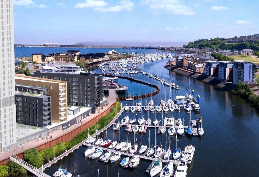 1 Bedroom Flat for sale in 1 Bedroom Apartments at Bayscape, Cardiff Marina, Watkiss Way, Cardiff Bay, CF11