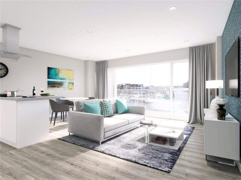 2 Bedrooms Flat for sale in 2 Bedroom Apartments at Bayscape, Cardiff Marina, Watkiss Way, Cardiff Bay, CF11