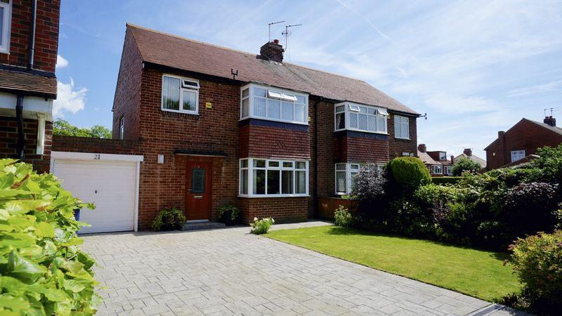 3 Bedrooms Semi Detached House for sale in BRIARFIELD ROAD, Gosforth