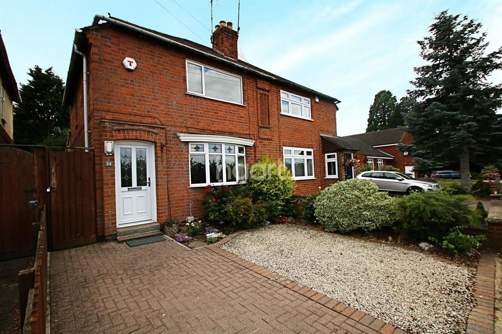 2 Bedrooms Semi Detached House for sale in Croft Road, Cosby, Leicestershire