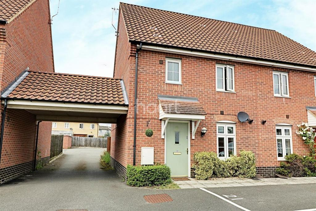 3 Bedrooms Semi Detached House for sale in Chalk Close, Thetford