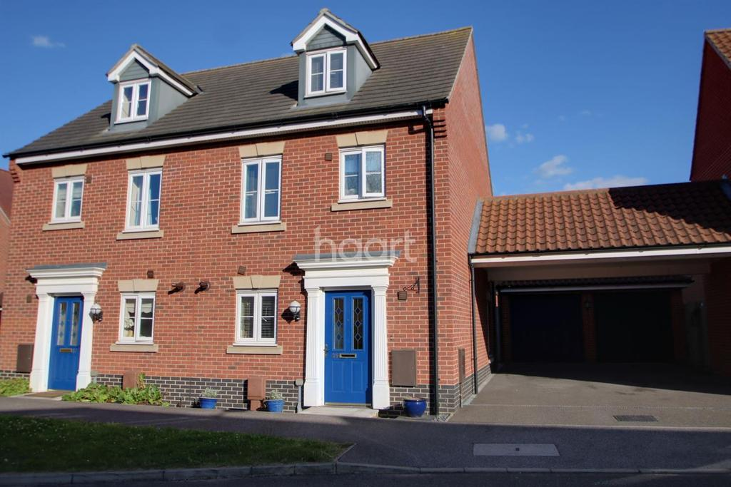 3 Bedrooms Terraced House for sale in Juniper Road, Bury St Edmunds