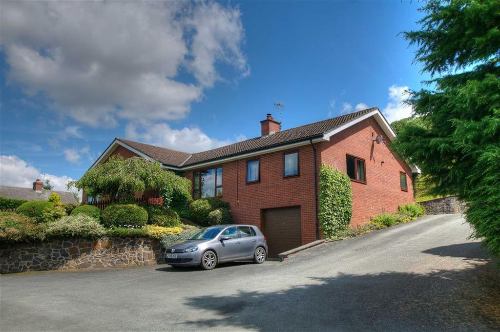 4 Bedrooms Detached Bungalow for sale in Fron Goch, Llandyssil, Montgomery, Powys, SY15