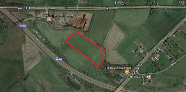 Plot Commercial for sale in Walsall Road,Summerhill,Lichfield