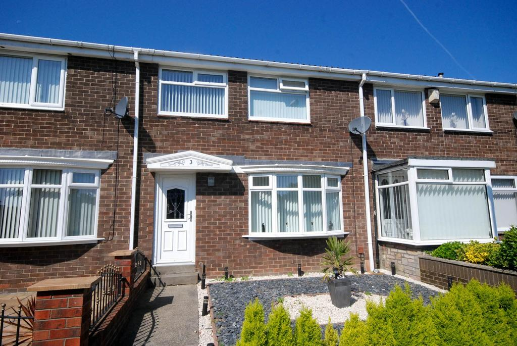 3 Bedrooms Terraced House for sale in Hereford Way, Fellgate, Jarrow