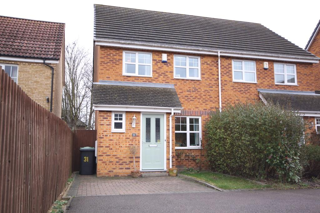 3 Bedrooms Semi Detached House for sale in Signal Close, Henlow, SG16