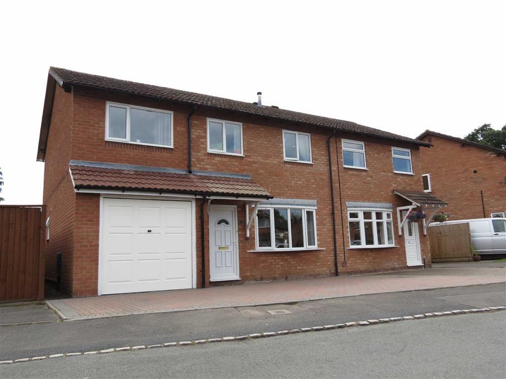 4 Bedrooms Semi Detached House for sale in West Edge, Bicton Heath, Shrewsbury, Shropshire
