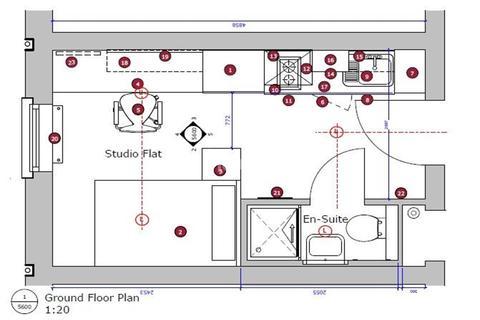 Studio to rent - Fitzwilliam Place, High Street