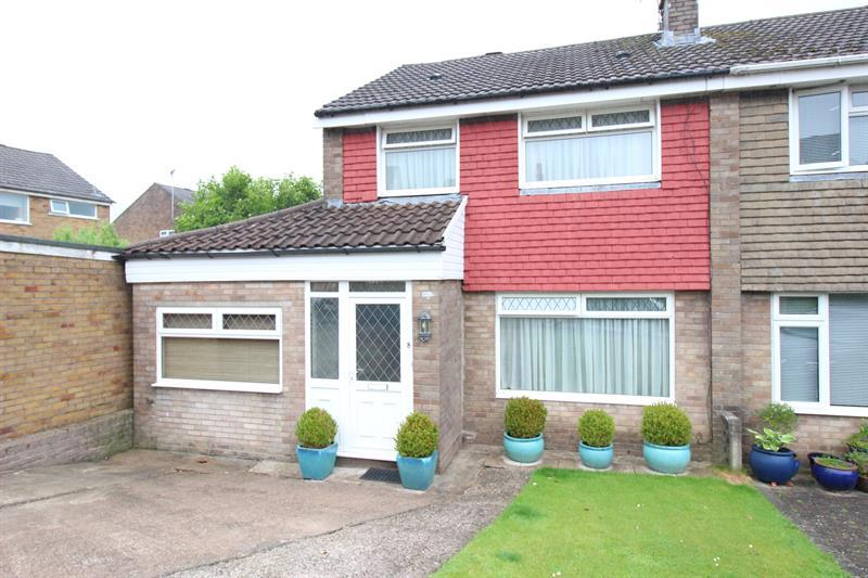 3 Bedrooms Semi Detached House for sale in Ogmore Court, Caerphilly
