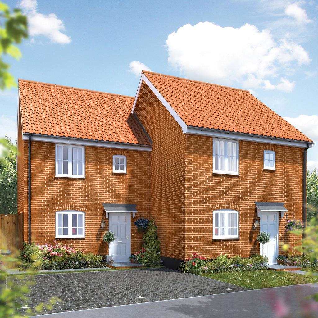 3 Bedrooms Terraced House for sale in Plot 91 Broadbeach Gardens, Stalham, Norfolk, NR12