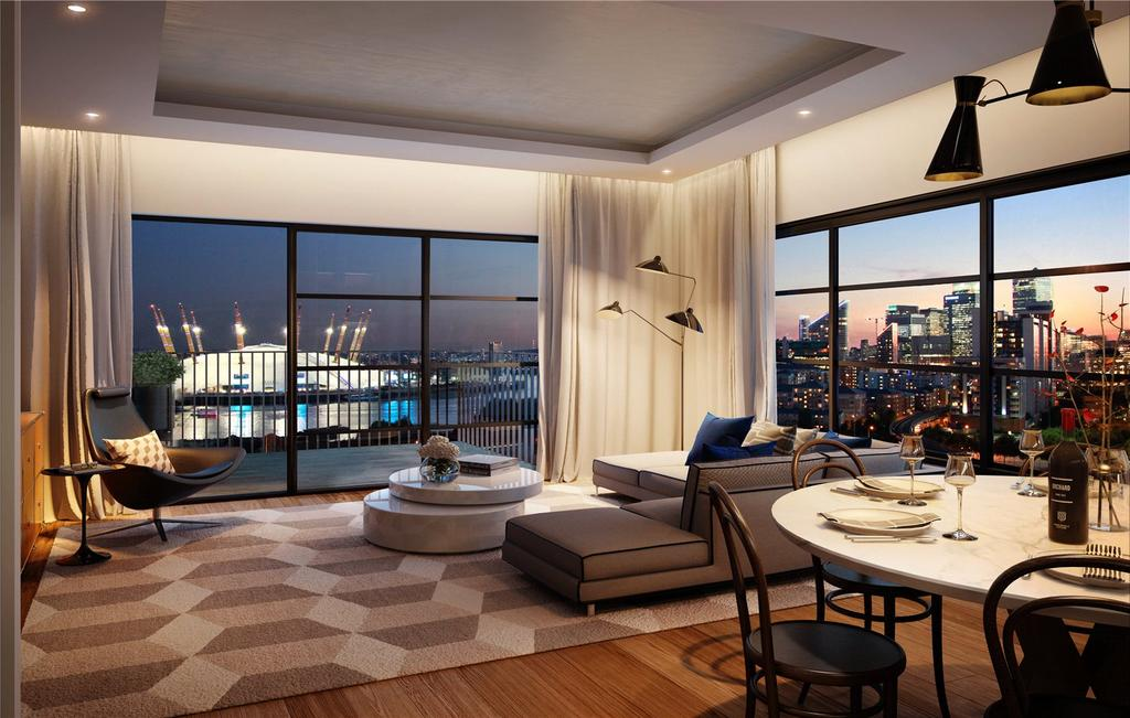 2 Bedrooms Apartment Flat for sale in Dawsonne House, London City Island, E14